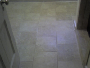 travertine tile bathroom floor, Memphis, TN