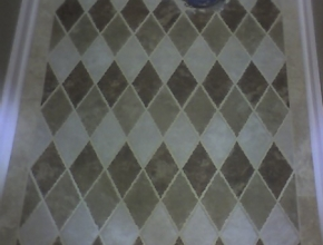 custom rhomboid tile floor pattern, Bartlett,TN