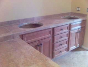 bathroom tile counter top, Collierville, TN