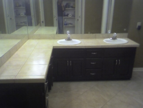 bathroom tile counter top, Memphis, TN