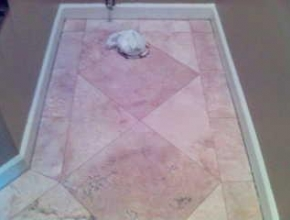 custom pattern travertine floor tile, Collierville,TN
