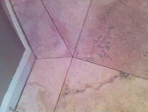 custom pattern travertine floor tile detail, Collierville, TN