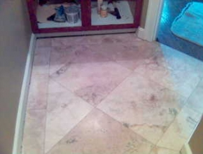 custom pattern travertine floor tile, Collierville, TN