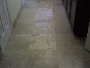travertine bathroom floor, Germantown, TN