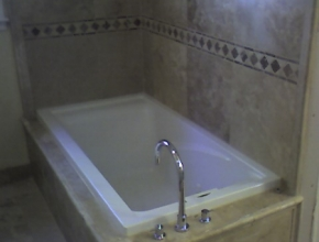 travertine tub surround, Germantown, TN