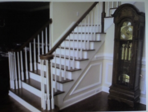 staircase refinish before, Germantown, TN