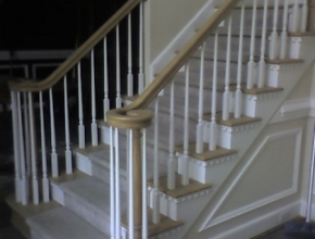 staircase refinish after, Germantown, TN