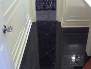 black galaxy granite bathroom floor, Memphis,TN